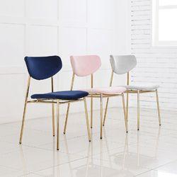 봉봉 골드 벨벳 체어 인테리어 식탁 카페 의자