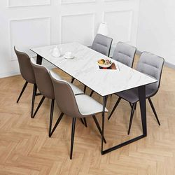 디센제르마노 6인세라믹식탁 뉴더블사이드 의자 세트