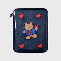 Bear heart-navy(PVC 파우치)