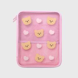 Dot love and bear-pink(PVC 파우치)