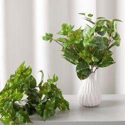 6대잎스킨 35cm 조화 그린 식물 인테리어 FAIBFT