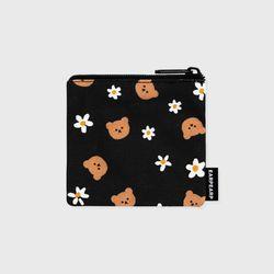 Dot flower bear-black(미니 파우치)