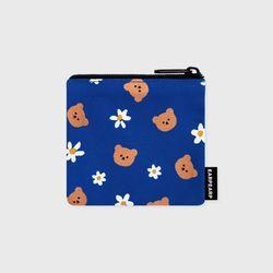 Dot flower bear-blue(미니 파우치)