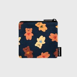 Dot ribbon bear-navy(미니 파우치)