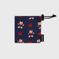 Bear heart-navy(미니 스트링)