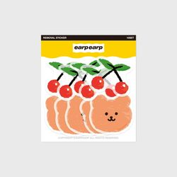 Dot cherry bear(커팅 스티커)