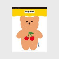 Cherry big bear(커팅 스티커)