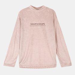 레터링 벨벳 반넥 티셔츠 RBLA18N57