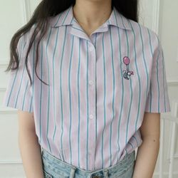 [Disney]스트라이프 캐릭터 셔츠 RBYC185C1