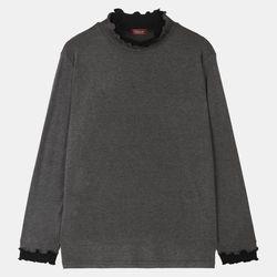 배색 폴라 티셔츠 OSLA20330