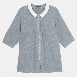 둥근카라 셔츠 OSYC20403