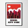 서울시티 바이브 M 유니크 인테리어 디자인 포스터 A3(중형)
