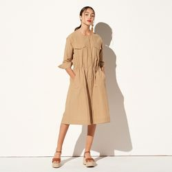 ROUND NECK SHIRTS ONE-PIECE BEIGE