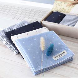 Medium Tempo Hankie - 면 손수건 블루오션 4종 선물세트