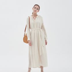 STRIPE STRAP MAXIS DRESS IVORY