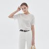 SUMMER CROP HALF KNIT IVORY
