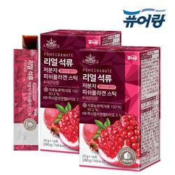 퓨어랑 리얼 석류 저분자 피쉬 콜라겐 젤리 스틱 2박스 (28포)