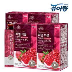 퓨어랑 리얼 석류 저분자 피쉬 콜라겐 젤리 스틱 4박스 (56포)