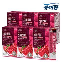 퓨어랑 리얼 석류 저분자 피쉬 콜라겐 젤리 스틱 6박스 (84포)