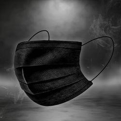 4중 필터 멜트블로운 일회용 마스크 50매(블랙)