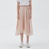 WAVE TENCEL LONG SKIRT PINK