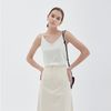 SIMPLE V-NECK KNIT SLEEVELESS IVORY