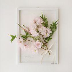 투명 식물 인테리어 액자 - 작은 벚꽃 A3사이즈