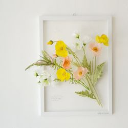 투명 식물 인테리어 액자 - 양귀비꽃 A3사이즈