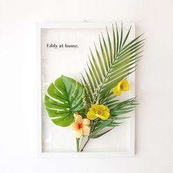 투명 식물 인테리어 액자 - 하와이안 A3사이즈