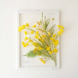 투명 식물 인테리어 액자 - 작은 벨플라워 A3사이즈