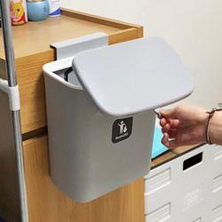 [1+1] 루미공이 슬라이드캡 여닫이형 걸이식 휴지통