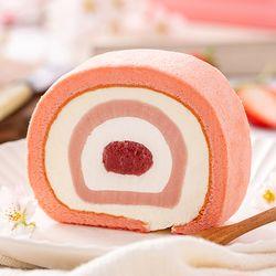 쿠캣마켓 딸기 떡이쏙 롤케이크 500g