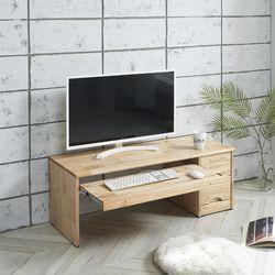 마로니 참죽원목 서랍형 좌식컴퓨터책상1050
