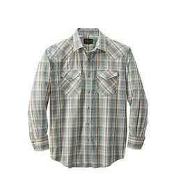 프런티어 체크 셔츠 세이지 브라운