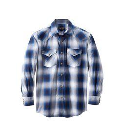프런티어 체크 셔츠 블루 그레이