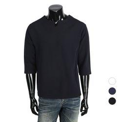 [쿠비코]캐쥬얼 넥트임 7부 반팔티셔츠  MZ084
