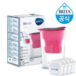[무료배송] 브리타 펀 1.5L 핑크 +필터 5개월분 (기본구성 필터포함)