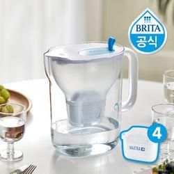 [무료배송] 브리타 스타일XL 3.6L 블루 +필터 5개월분 (기본구성 필터포함)