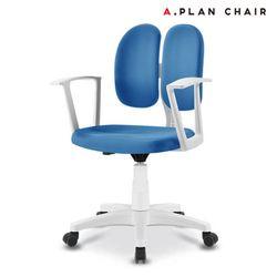D3 화이트 학생용 듀얼백 의자(DW350)