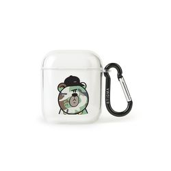 AirPods CASE CAMOUFLAGE BEAR GREEN CLEAR