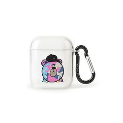 AirPods CASE CAMOUFLAGE BEAR PINK CLEAR