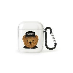 AirPods CASE COMPTON BEAR CLEAR