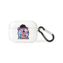 AirPods Pro CASE CAMOUFLAGE BEAR PINK CLEAR