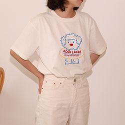 굿럭 커플티셔츠 보호자용(아이보리)