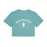 (W) 리틀 캣츠 크롭 티셔츠 민트