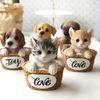 라탄바구니 강아지 고양이 5style