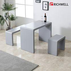 엣지 멀티일자 식탁 테이블 1200 의자별도