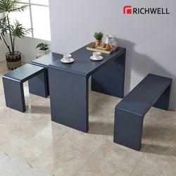 엣지 멀티일자 식탁 테이블 1500 의자별도