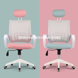 의자왕 사무실 학생 책상 의자/체어 709 WHITE HEAD