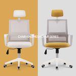 의자왕 사무실 학생 책상 의자/체어 801 WHITE HEAD
